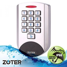 ZOTER SECURITY Metal Case Waterproof IP68 Design 125Khz ID Reader RFID Keypad for Home Office Door Access Control Security System - intl