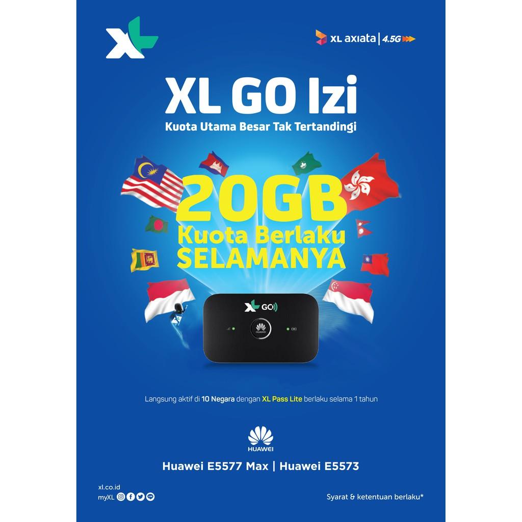 XL GO IZI - Modem WiFi 4G LTE Kuota Utama 20GB
