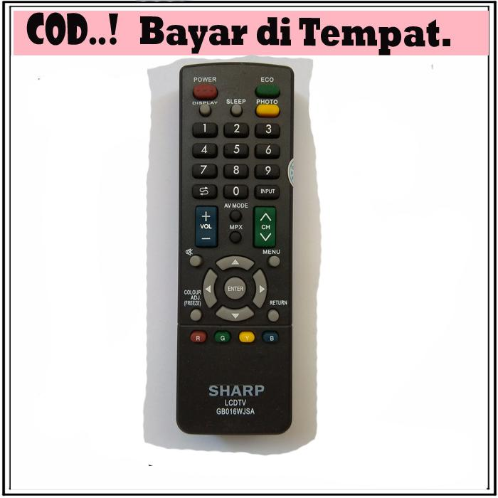 REMOT/REMOTE TV SHARP LCD/LED GB016WJSA PASTI KONEK
