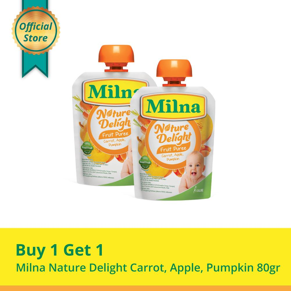 Buy 1 Get 1 Milna Nature Delight Carrot, Apple, Pumpkin 80gr By Kalbe Home Delivery