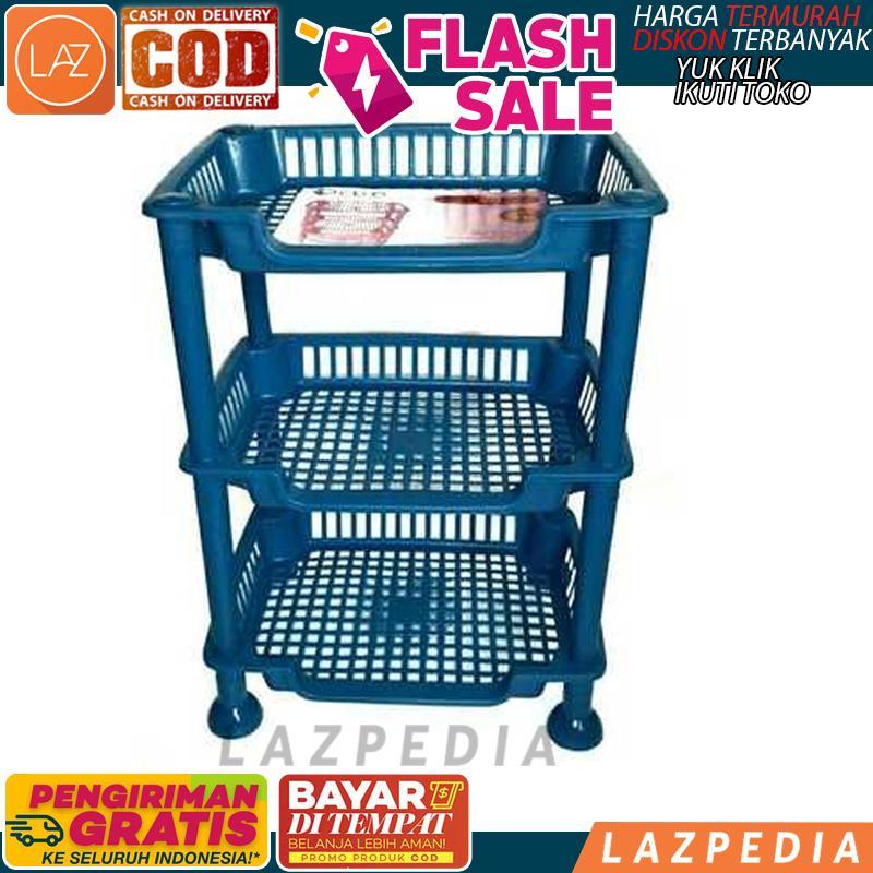 BAYAR DITEMPAT - [WARNA RANDOM 3 SUSUN] Rak Mini Plastik Serbaguna / Tingkat /
