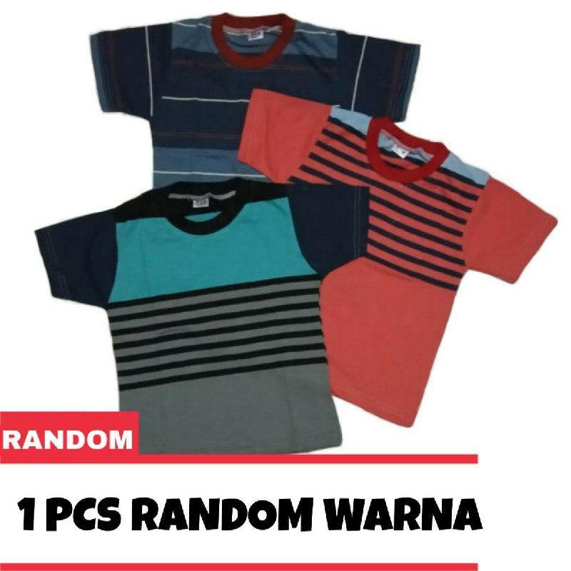 [1 pcs] Kaos Salur Anak Ketebalan Sedang 1-10 Tahun Kaos Oblong Anak