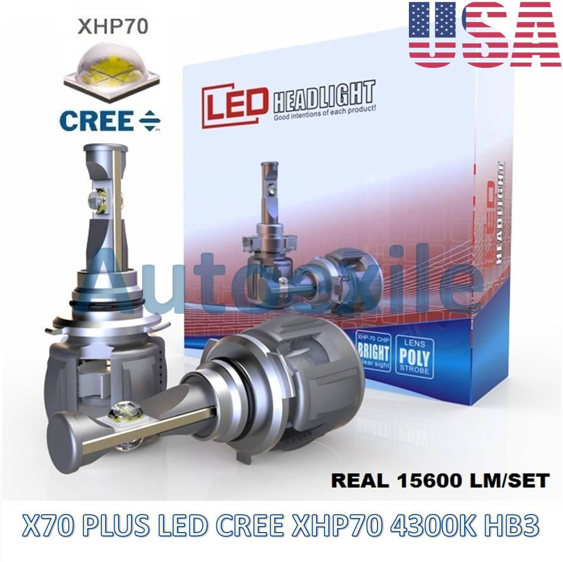 X70 Plus LED HB3 9005 60W 15600LM CREE XHP70 4300K Lampu Mobil XHP 70 Kuning BRV CRV Innova Reborn Fortuner Rush New Pajero Terios XI New Civic Celica