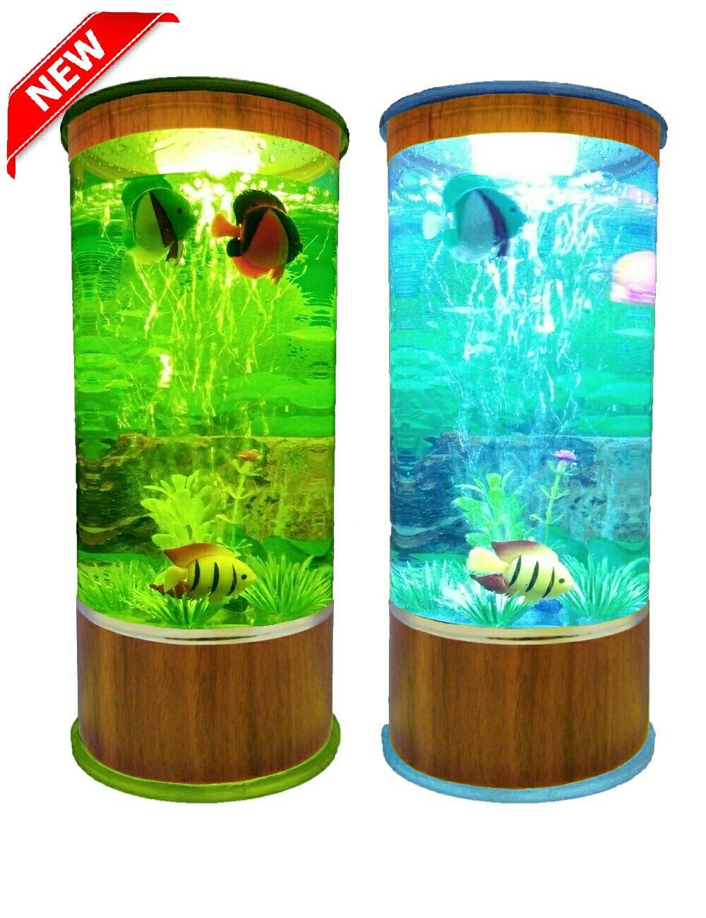 Aquarium Mini Plus Lampu dan Mesin Aerator Oxygen