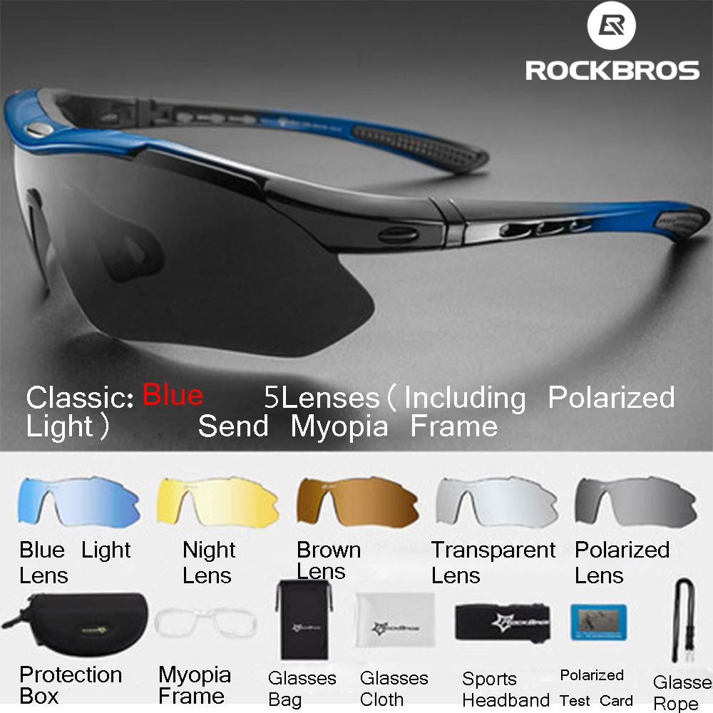 【free Shipping】rockbros Polarized Sports Men Sunglasses Road Cycling Glasses Fashion Women Sunglasses Mountain Bike Bicycle Riding Protection Goggles Eyewear 5 Lens By Linkcool.