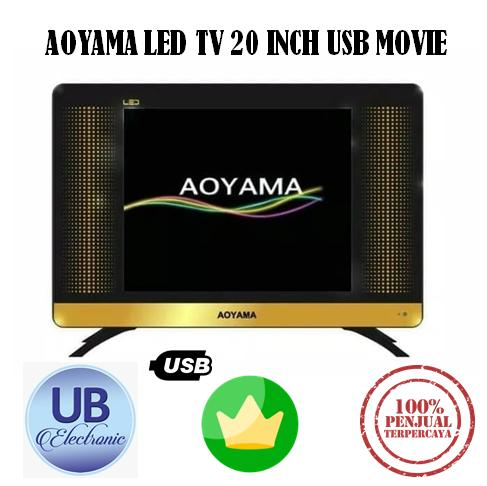 TV LED AOYAMA LED TV 20 INCH USB MOVIE HDMI MURAH