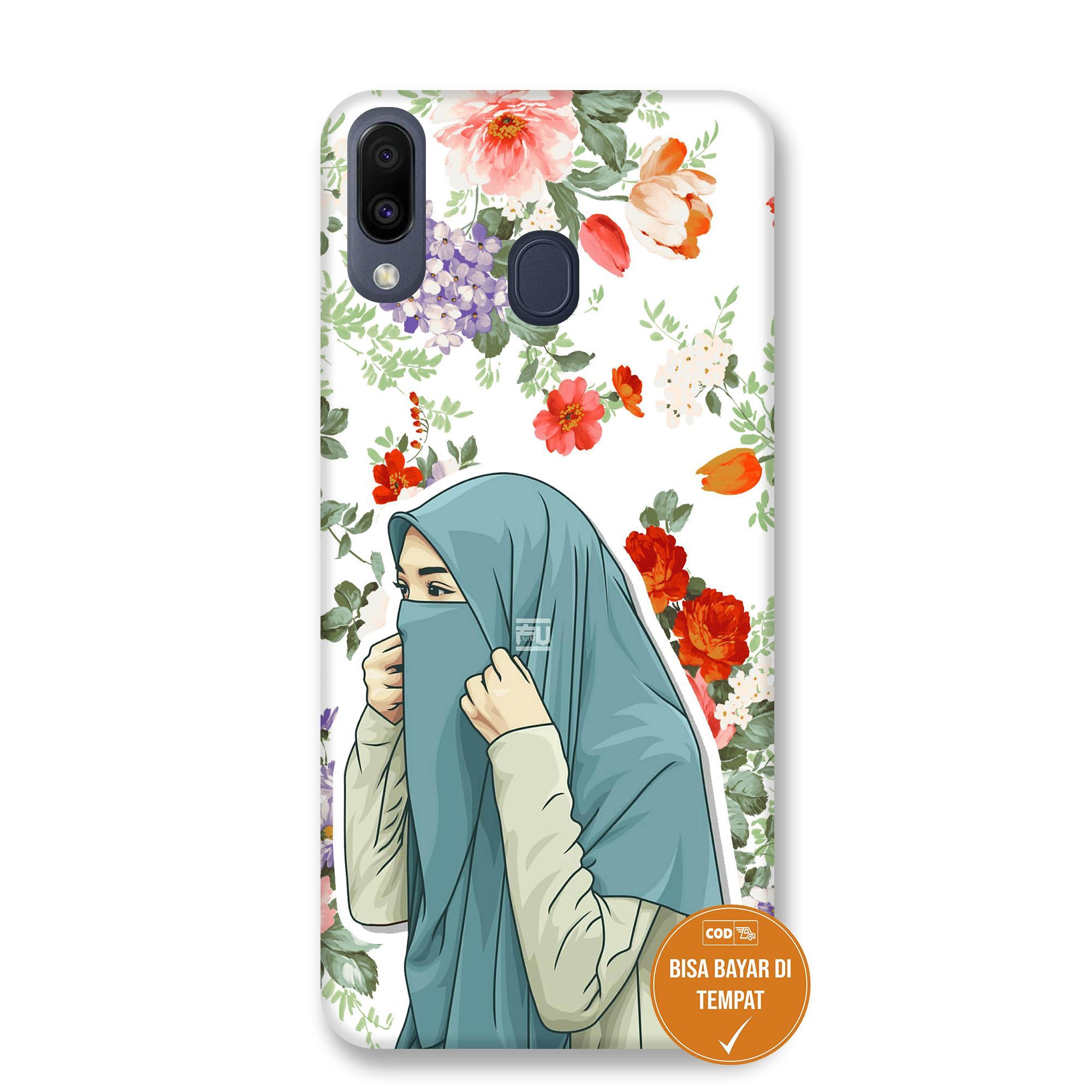 Case Samsung M20 Hijab Flower 1 07 - Marinstore Pelindung Hp, Case Hp, Casing Handphone - BIsa COD/ Bayar DItempat paling murah paling bagus