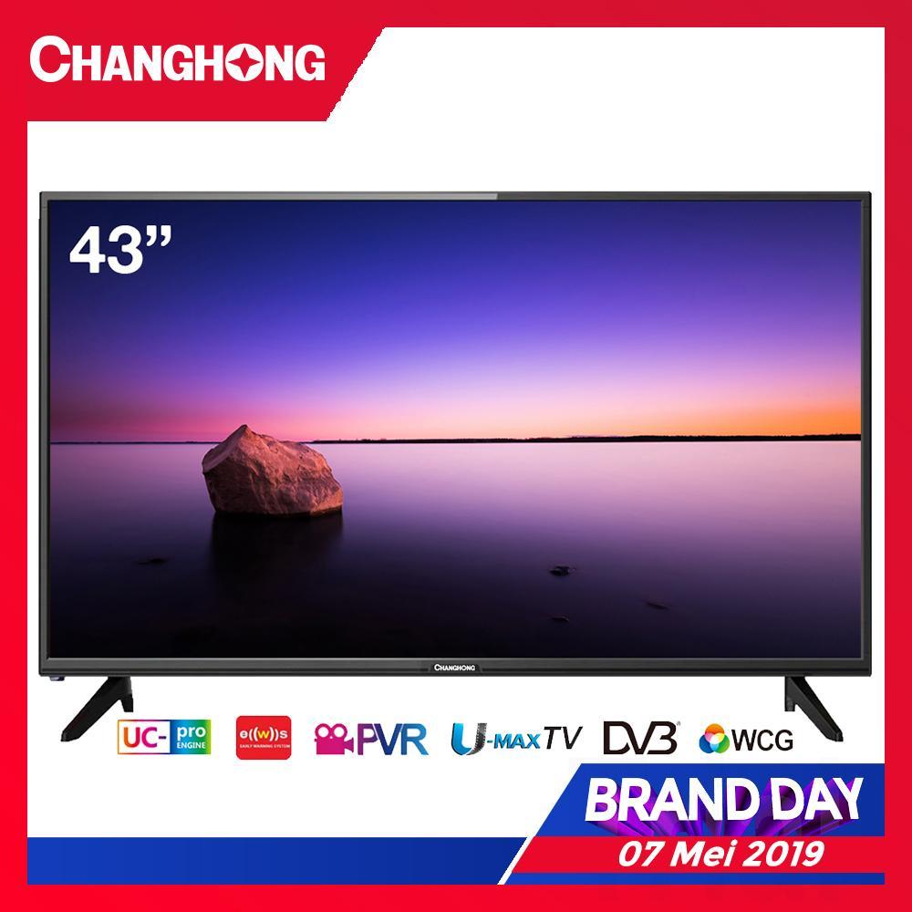 CHANGHONG LED TV 43 Inch - Digital TV - Full HD TV - USB/HDMI - L43H5T - Garansi Resmi 3 Tahun