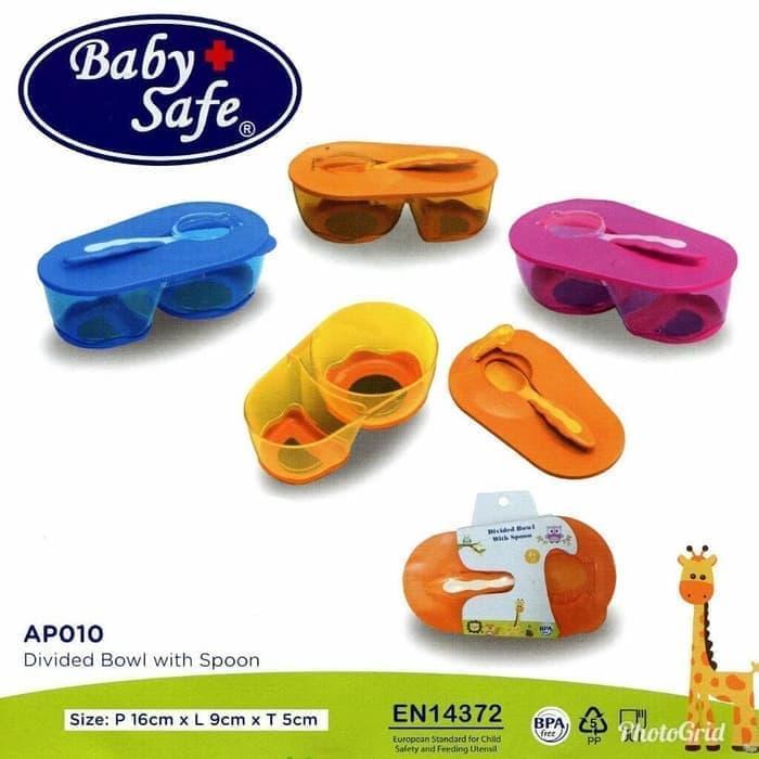 Baby Safe Divided Bowl with Spoon / Set Peralatan Makan Anak (AP010)