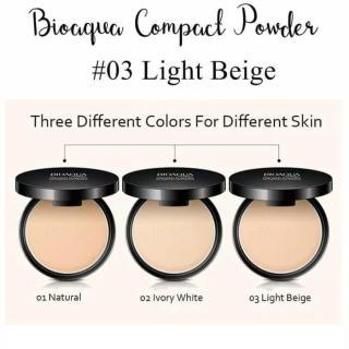 Bioaqua Bioakua Biokua Bioqua Make Up Professional Compact Powder Bedak Padat Matte Concealer Water Resistant Tahan Lama dan Anti Air ( No.3 Light Beige ) thumbnail