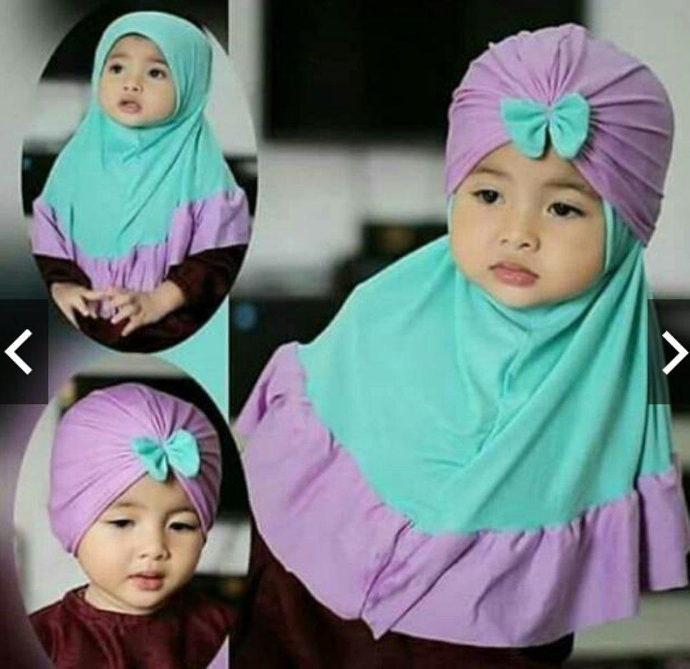 kerudung anak Turban Amanda Pita / Jilbab Hijab Bayi / hijab anak / hijab perempuan /