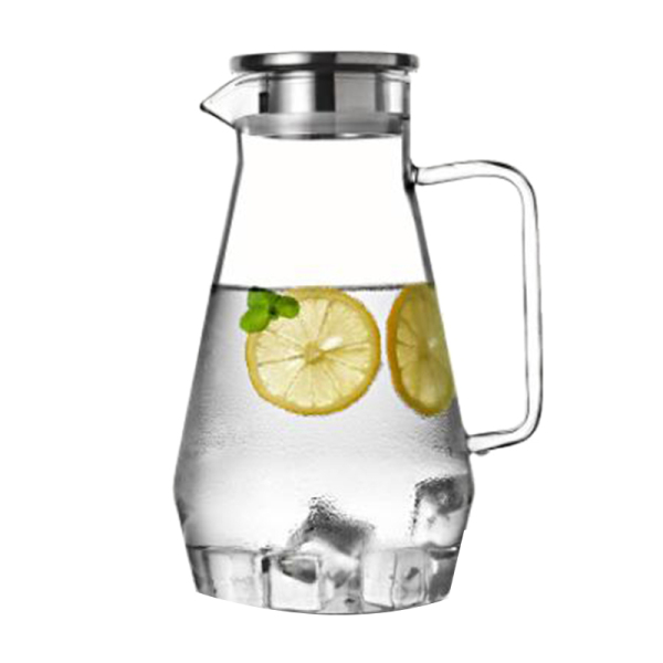 68 Ounces(2000Ml )High Borosilicate Glass Cold Kettle with Tight Lid,Heat-Resistant Glass Jug,Large Capacity Juice Jug