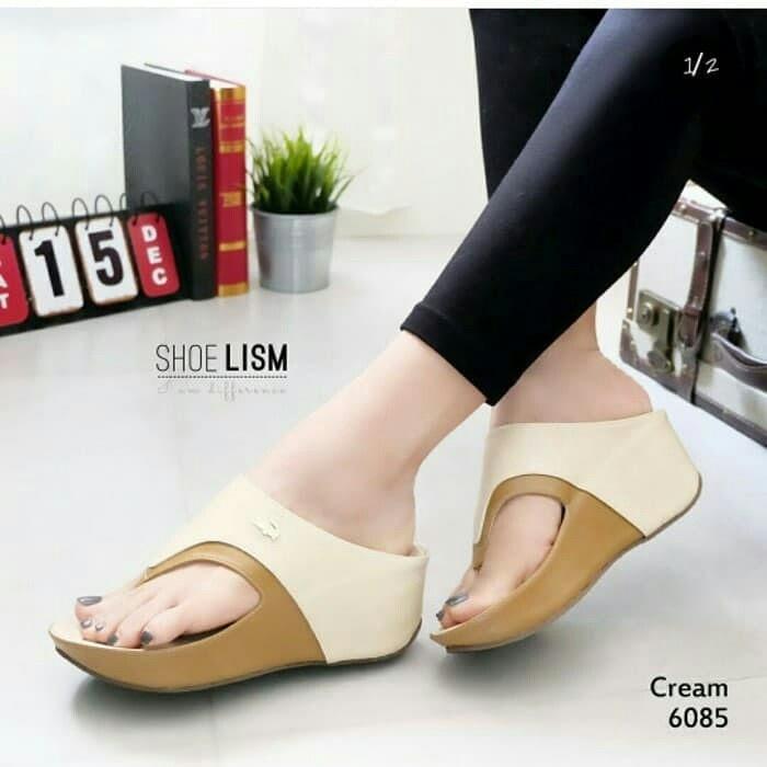 Sandal Wanita Wedges Crocodile / Sandals High Heels Wanita