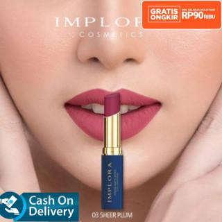 LIPSTIK IMPLORA INTENSE MATTE Lipstik Lipcream Original kosmetik wanita promo murah wardah Exclusive Matte lipcream thumbnail