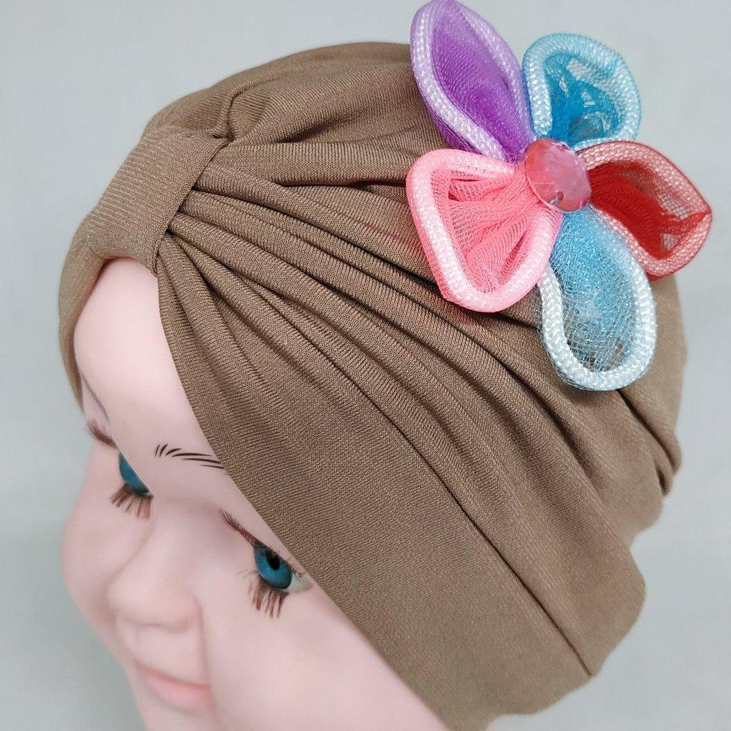 Turban Bayi Anak Miniflow Single Hijab Kerudung Aksesories Headband By A3 Toys.