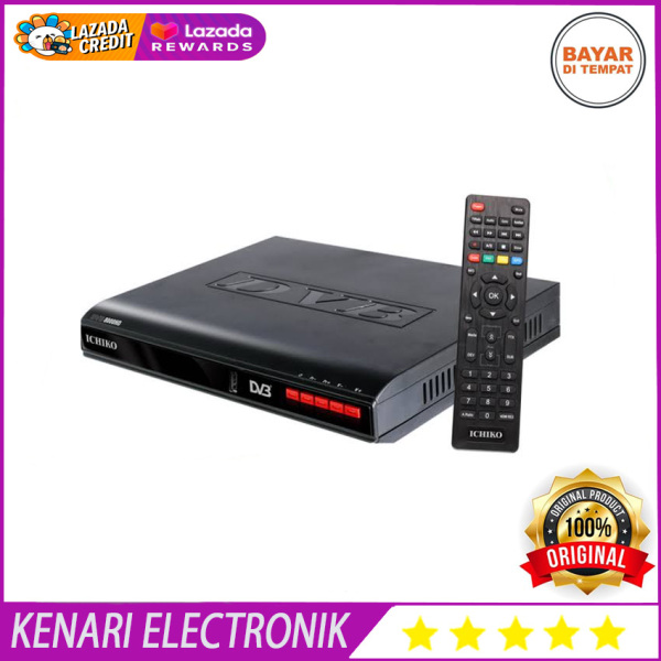 Ichiko Set Top Box DVB-T2 TV Digital - Generasi Terbaru - Hitam