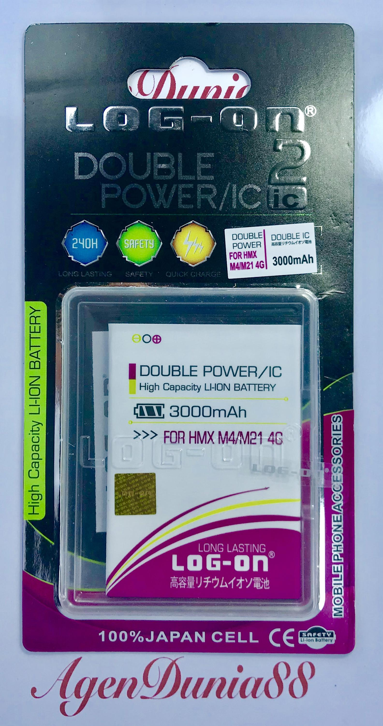 BATERAI HIMAX M4 - M21 4G - KBL200N378 - LOG ON DOUBLE POWER BATTERY