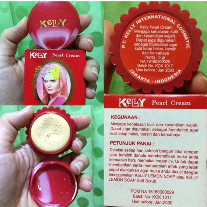 New Kelly Pearl Cream Perawatan Wajah Isi 5gr Original Bpom Lazada Indonesia