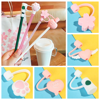 YIELDSTORE16E2 1pcs Creative Airtight Straw Tips Reusable Cup Accessories Drinking Dust Cap Cartoon Plugs Cover Silicone Straw Plug thumbnail