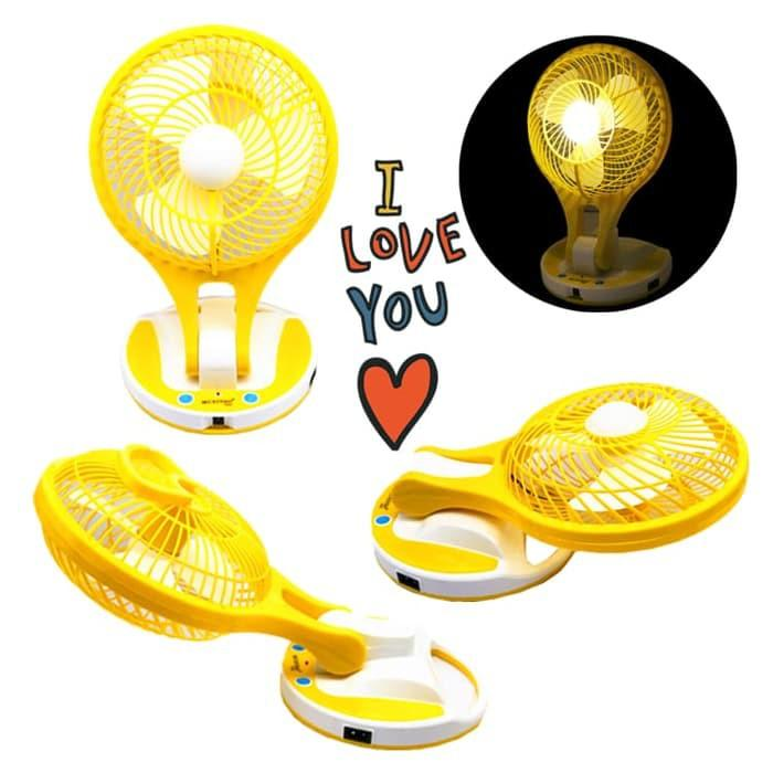 HOT PROMO!!! KIPAS ANGIN MINI FAN UNTUK MATI LAMPU WITH PORTABLE LED LIGHT
