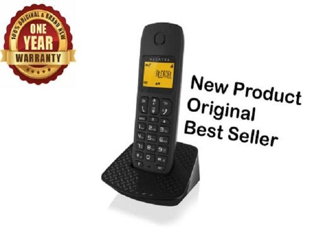 Alcatel Best Seller Murah E132 /  E-132 /  E 132 Telepon Rumah Kantor Hotel Cordless Telephone Wireless Phone Single Line Bergaransi Resmi - Hitam