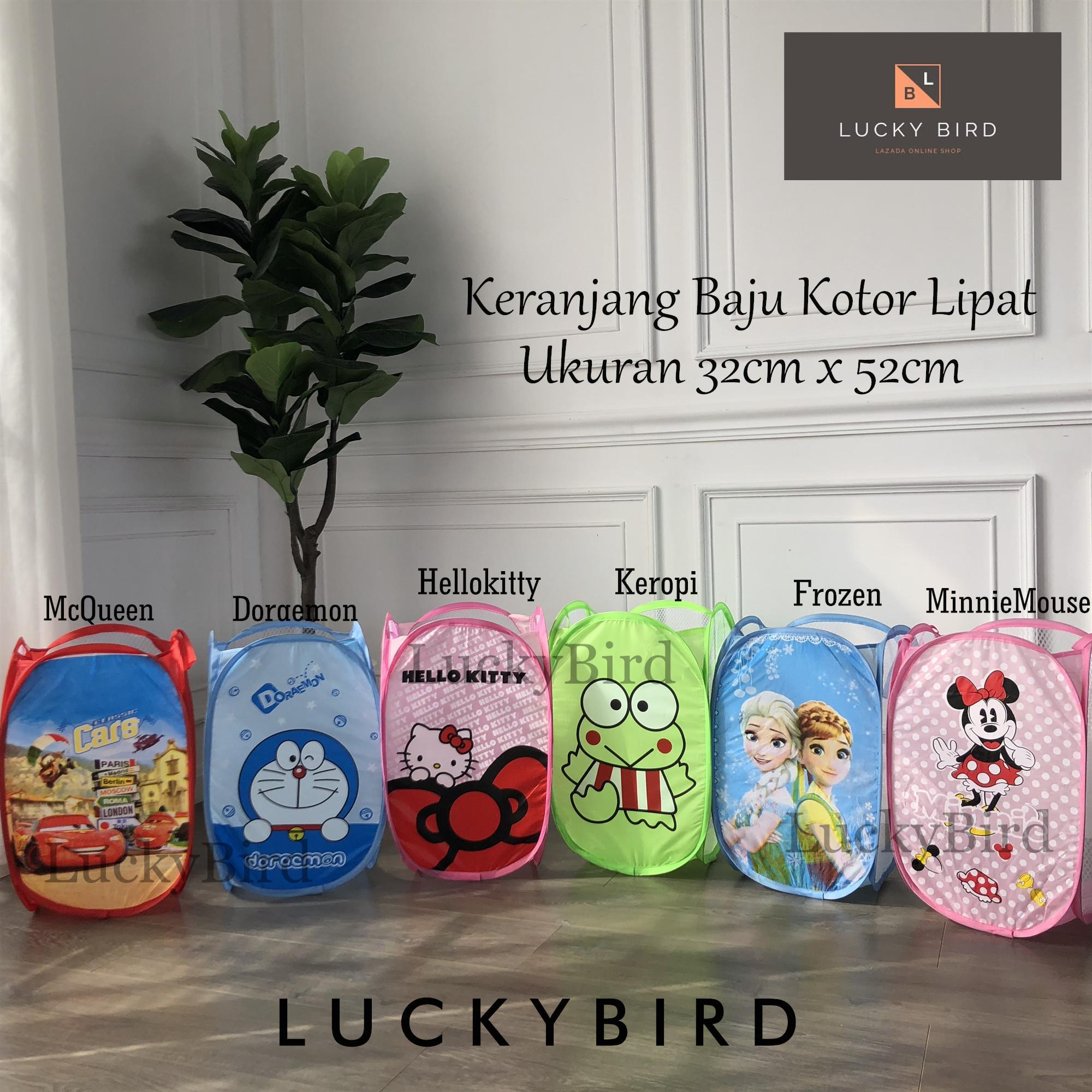Keranjang Baju Kotor Karakter Lucu Keranjang Lipat Laundry Bag/ Binatu/ Hamper By Lucky Bird ...