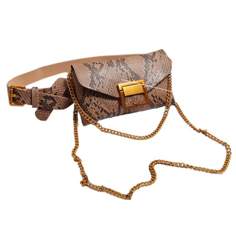 ab018e0f7c0 Women Waist Bag Leather Female Belt Chain Bags Fashion Fanny Pack Waist  Belt Bag Female Hip