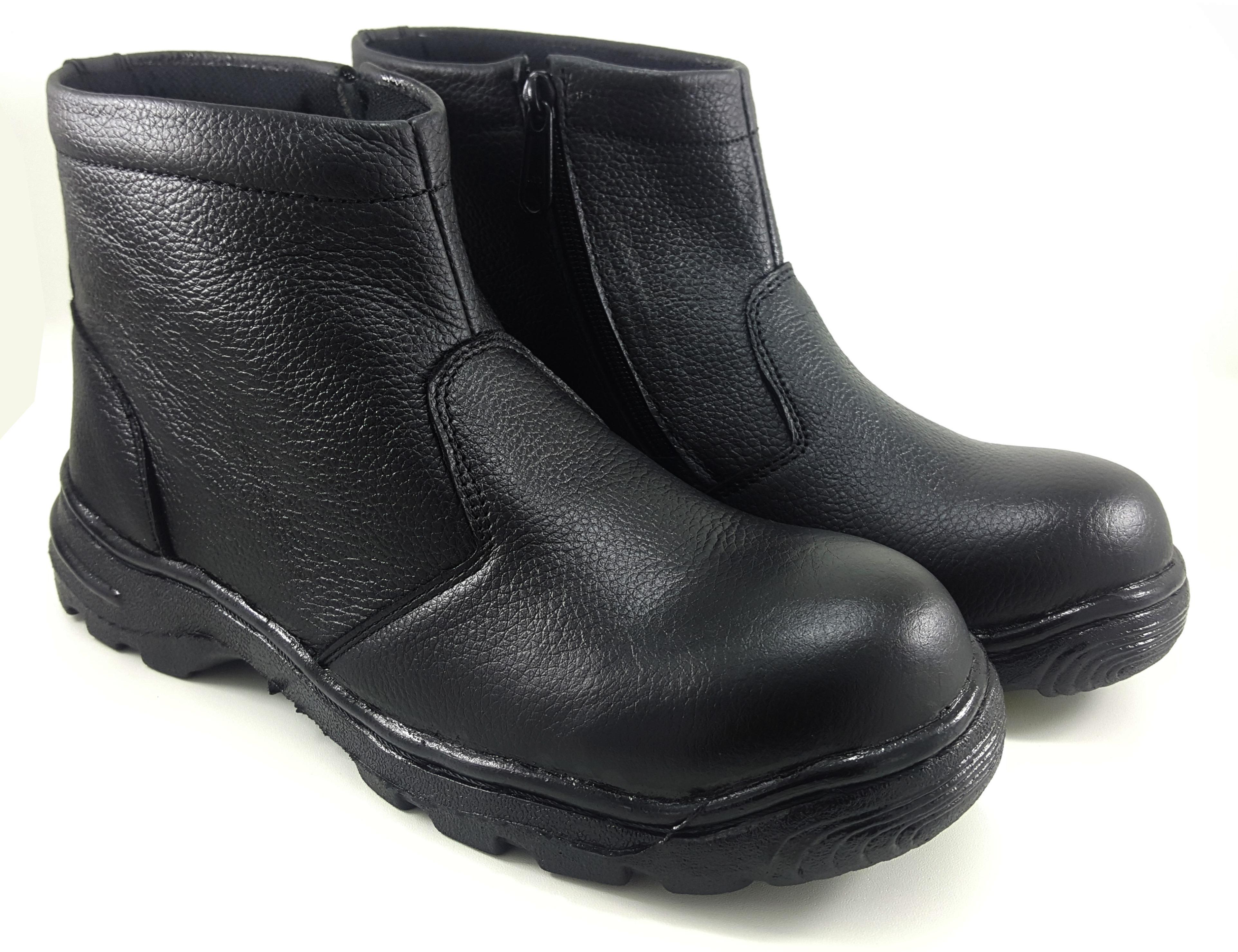 Sepatu Safety Boot Retsleting Kulit Asli King Arthur