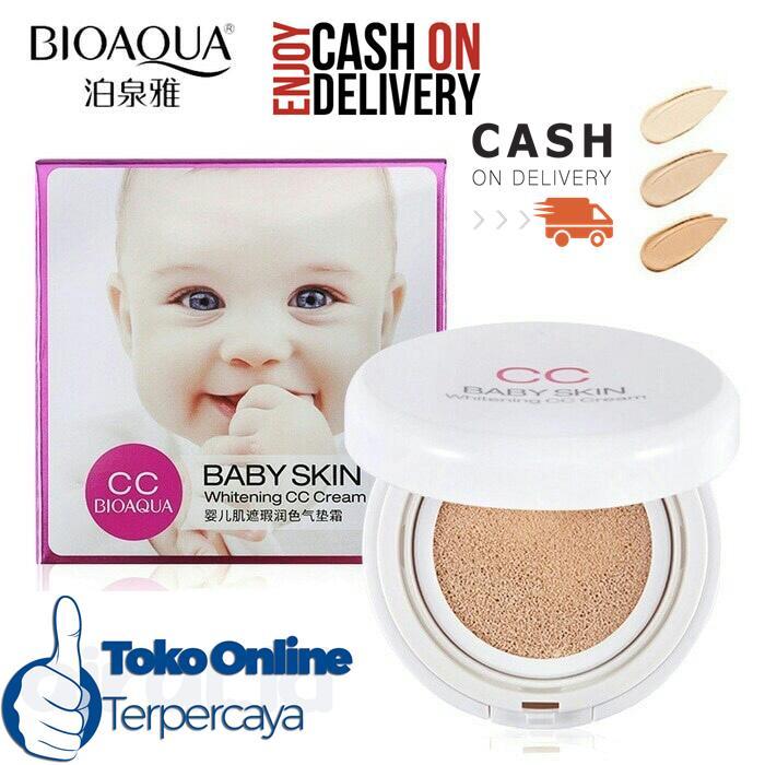 Terlaris BioAqua Baby Skin Whitening CC Cream Cushion Shade Ivory 1 Pcs
