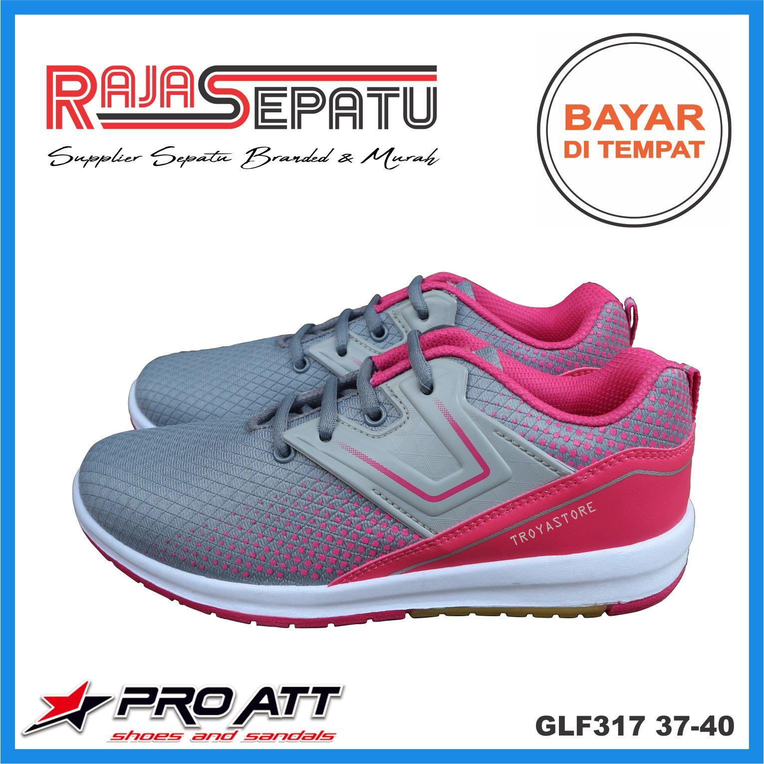 RAJASEPATU - Pro ATT Sepatu Wanita Murah GLF317 Original   Sepatu Sport  Wanita Abu Hitam Pink ae48cca2a5