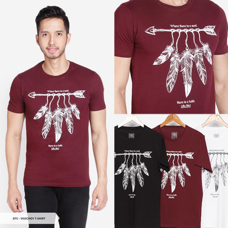 Visschoy Furry Casual Men T-Shirt -White