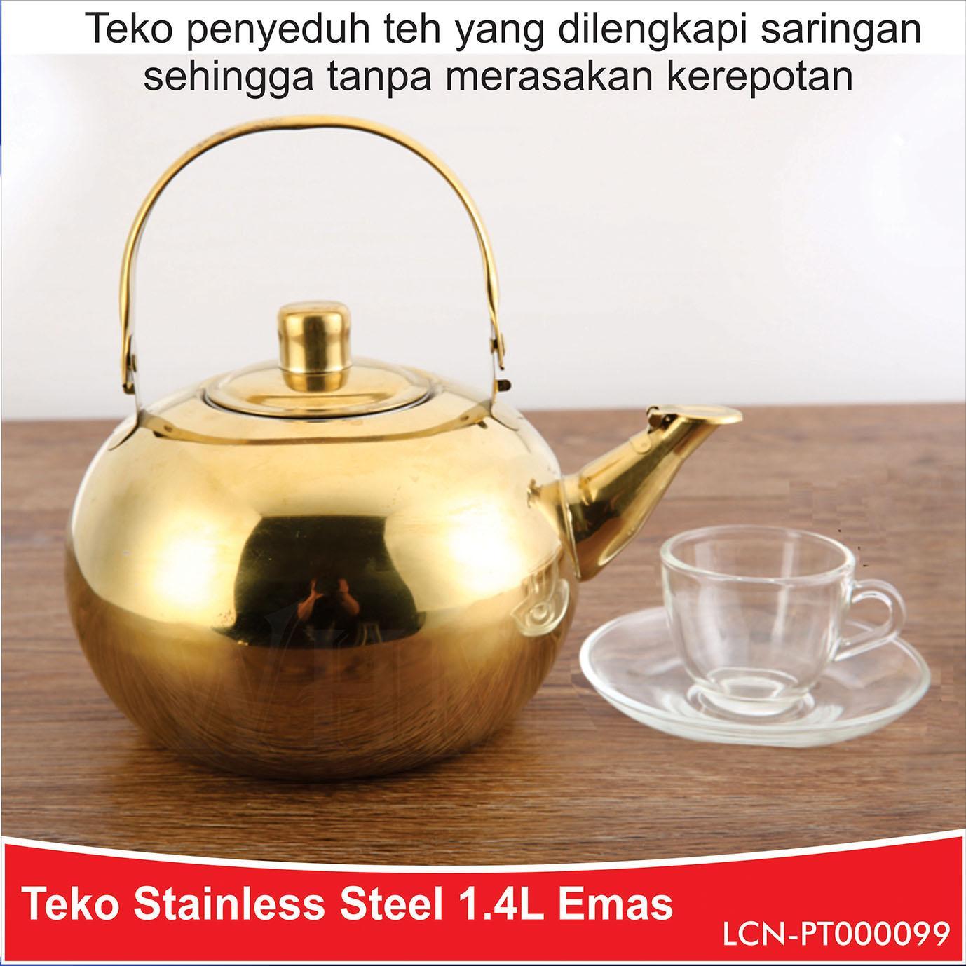 WHM Kettle - Teko Stainless 1.4 L Gold (LCN-PT000099)