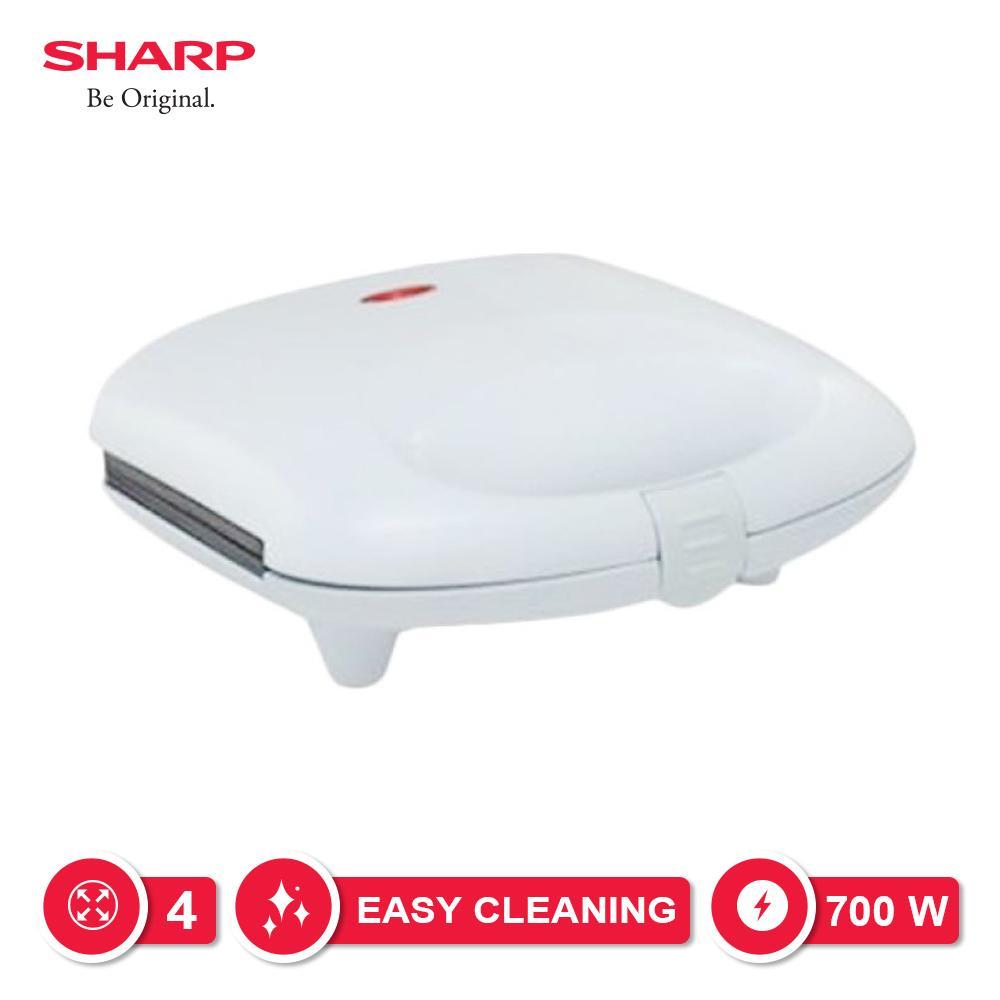 Sharp Kzs-70l(w) Pemanggang Sandwich - Putih By Lazada Retail Sharp