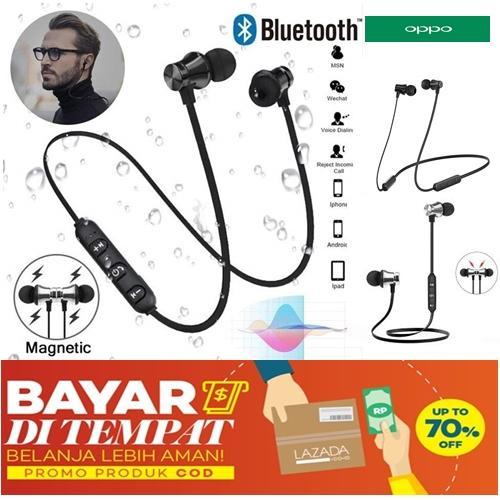 Magnetic Wireless Bluetooth Earphone XT 11 Bass Stereo Headset ( bisa cod )