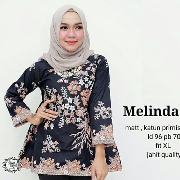 Atasan Batik Wanita Modern Terbaru / Dress Batik Bluss Batik Seragam Kantor ukuran kecil sampai Sup