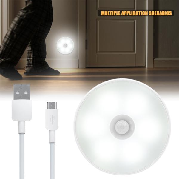 Mylife 1 Chiếc Đèn Cảm Ứng Cơ Thể Người, Thông Minh Cảm Biến Chuyển Động LED Ánh Sáng Ban Đêm USB Sạc Tiết Kiệm Năng Lượng Đèn Đầu Giường Phòng Ngủ Không Dây Cho Phòng Ngủ Hành Lang Cầu Thang Nhà Vệ Sinh Tủ Quần Áo Ánh Sáng
