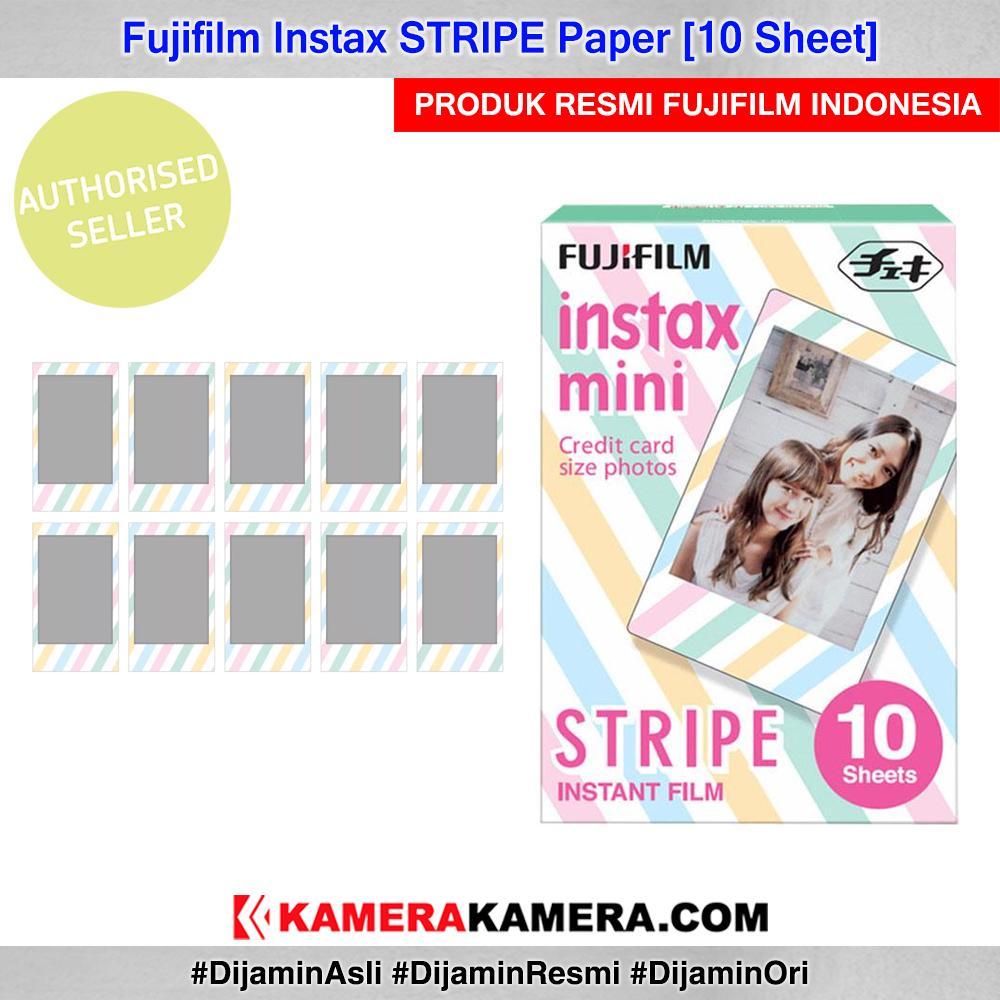 Fujifilm Instax Paper Stripe Motif 10 Sheet Original By Kamerakamera.