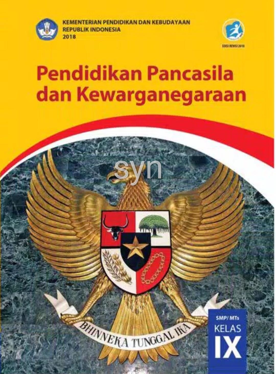 Ppkn Kelas 9 Buku Pelajaran Pkn Kelas Sembilan Buku Paket Pkn Smp Kelas 9 Kurikulum 2013 Revisi 2018 Lazada Indonesia