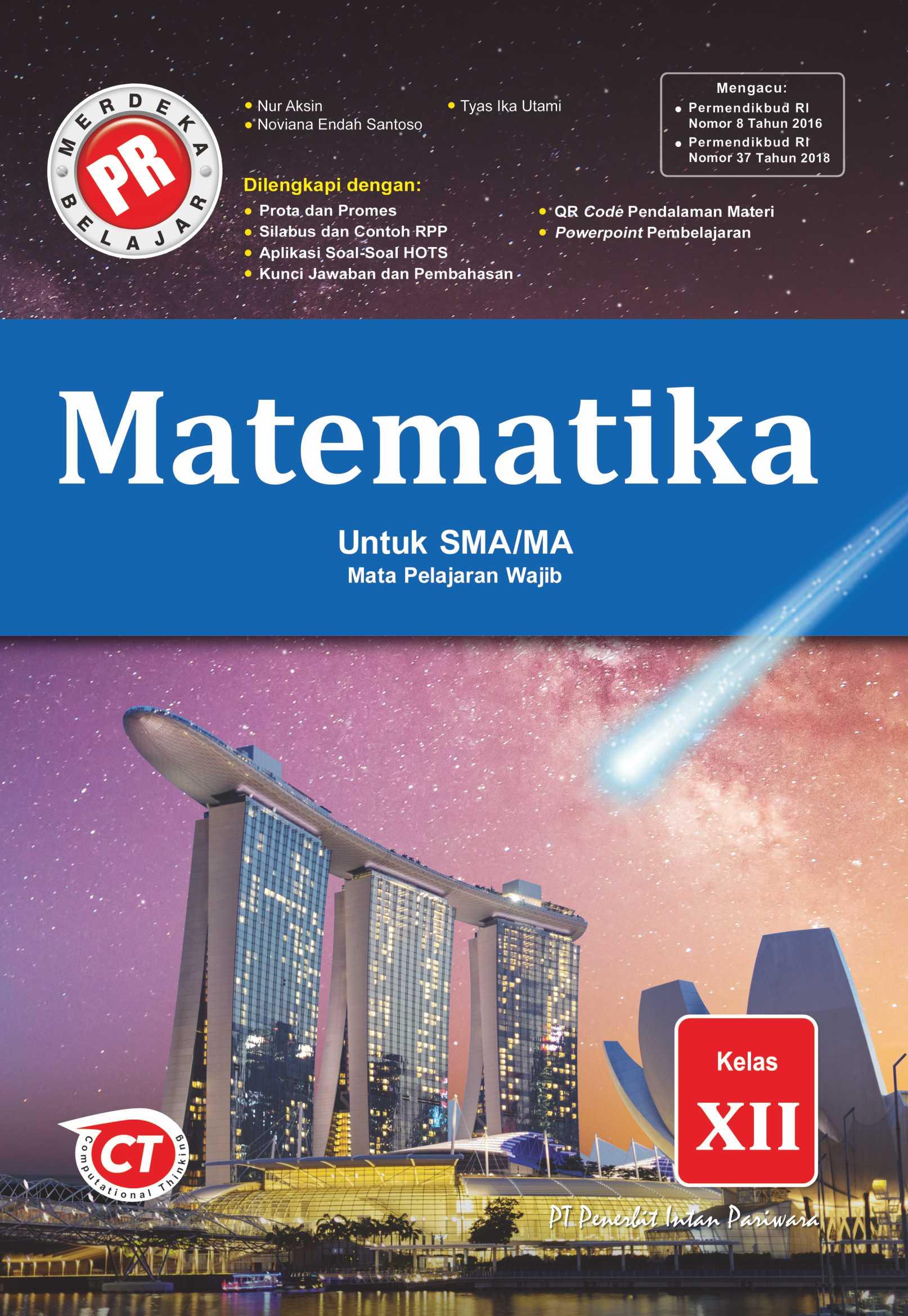 Buku Pr Matematika Mapel Wajib Kelas 12 Lks Intan Pariwara 2020 2021 Lazada Indonesia