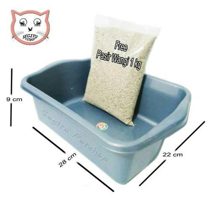 Tempat Pup Kucing Litter Box Ukuran L By Alhaidar Shop.