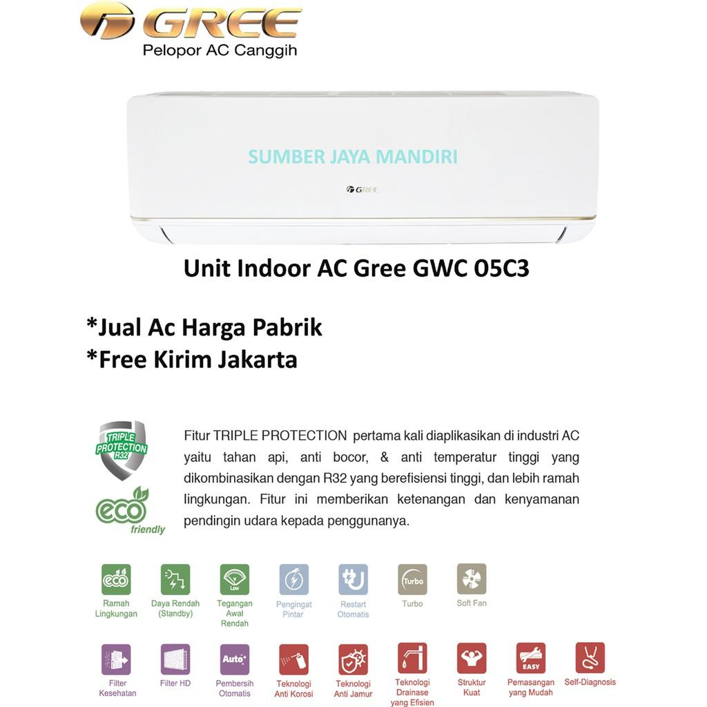HARGA PROMO!!! AC Gree Split Low Watt GWC 05 C3 - 0.5 PK