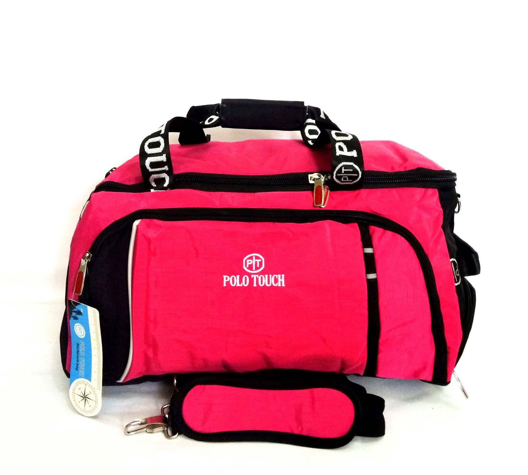 Tas Olahraga Futsal Gym Travel Bag Medium Polo Touch Ada Slot Sepatu By Tendakaki5.