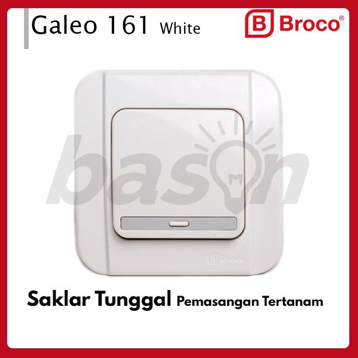 BROCO Galleo G161 Saklar Single - 1 Gang 1 Way Switch