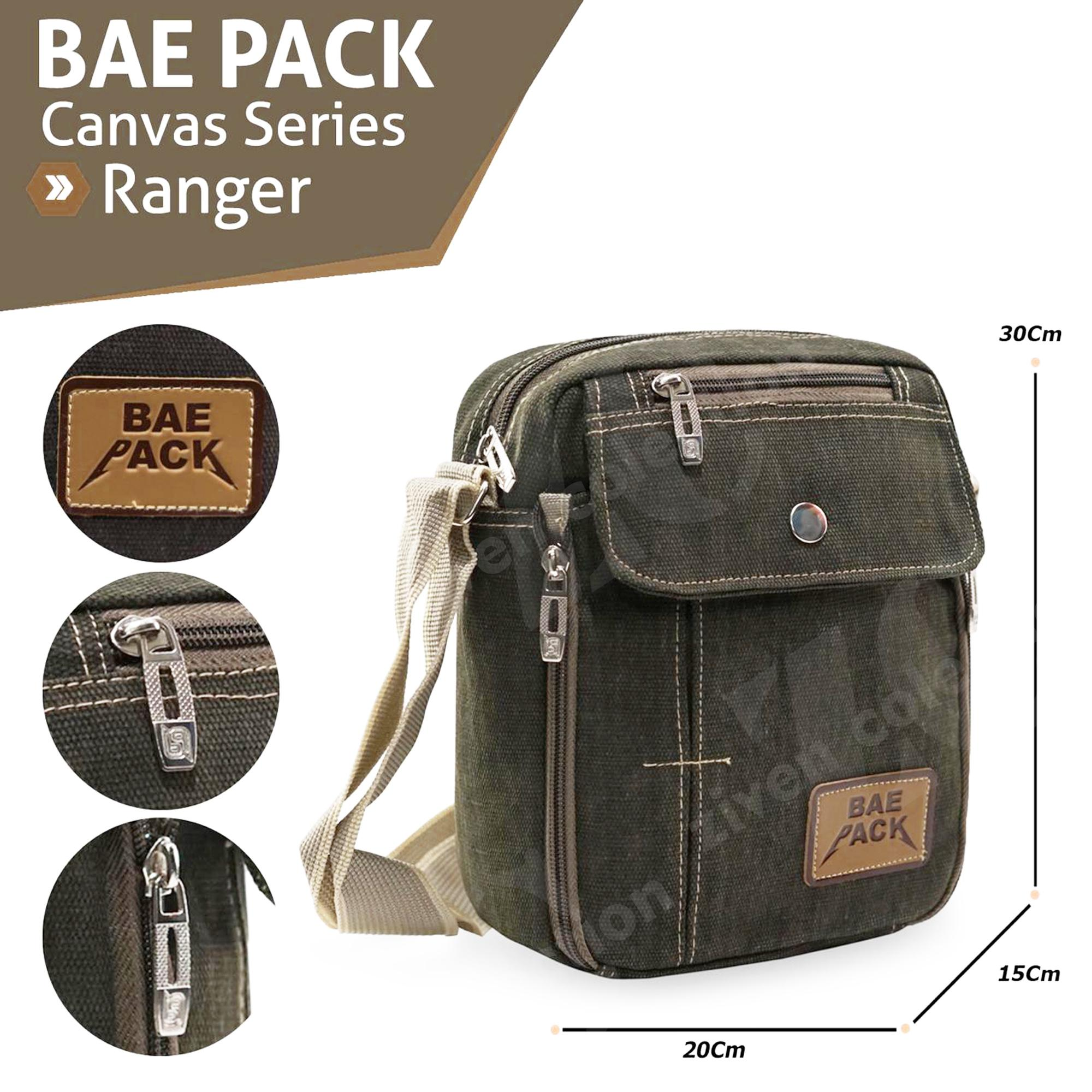 Baepack Ranger Tas Pria Men Vintage Canvas Multifunction Travel Satchel Messenger Shoulder Bag 1507-7ZV