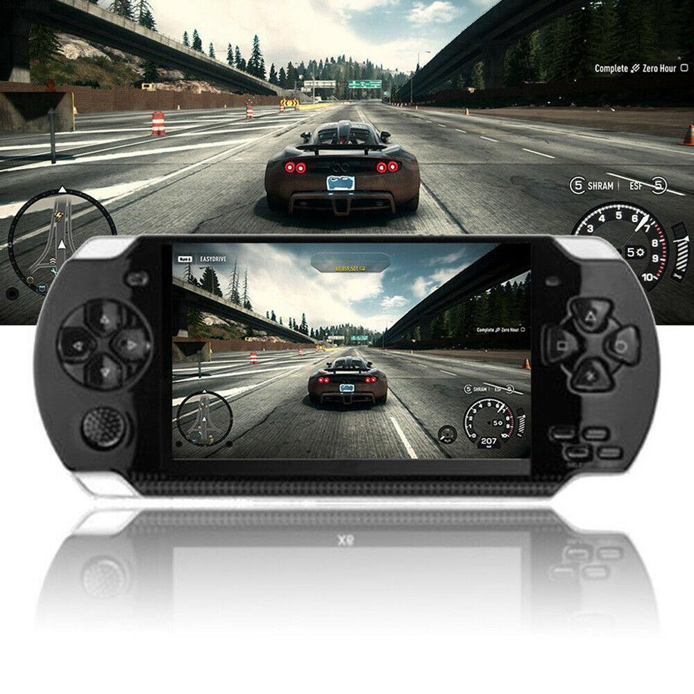 Eleboutique 【instock】 A10 Pocket Psp Game Console Nostalgia 8gb Handheld Psp Game Console Player Built-In 1000 Games 4.3 Inch Portable Consoles.