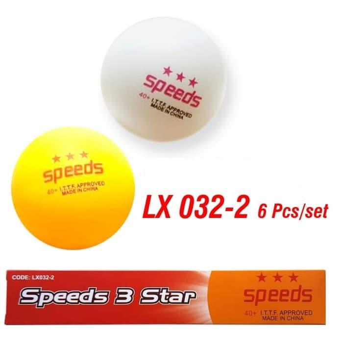 Bola PingPong Ping Pong Bola Tenis Meja Ball 3 Stars Speeds Isi 6 pcs 32-
