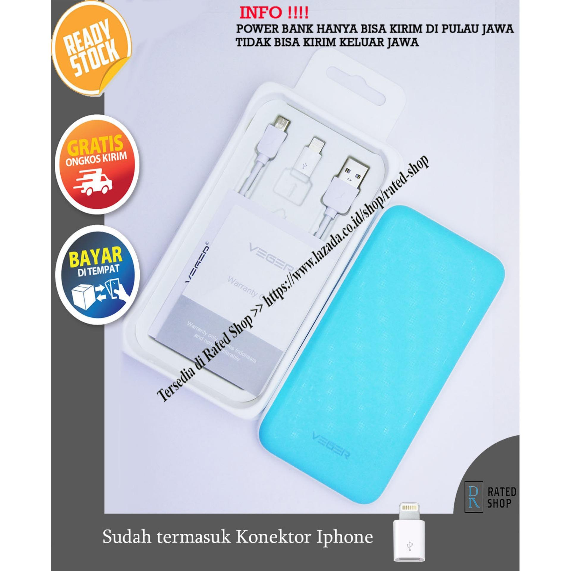 Power Bank Veger 25000mAh Original Garansi 1 Tahun (Premium) - Veger V16