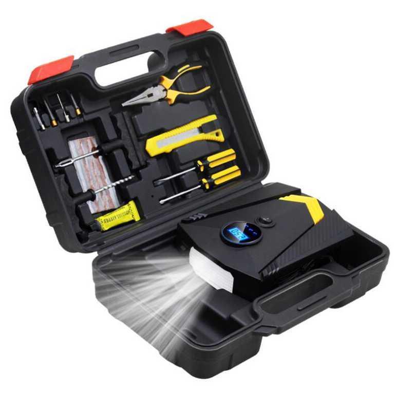 Modern Sense Inflator Pompa Angin Ban Mobil Car Air Compressor 120W Tool Set - Go Market