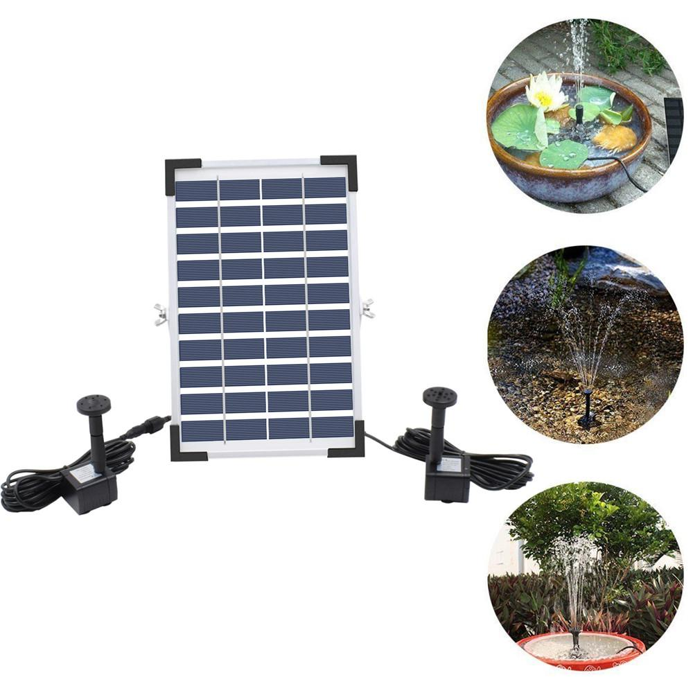 RD 10V 5W Solar Powered Fountain with Double Water Pump