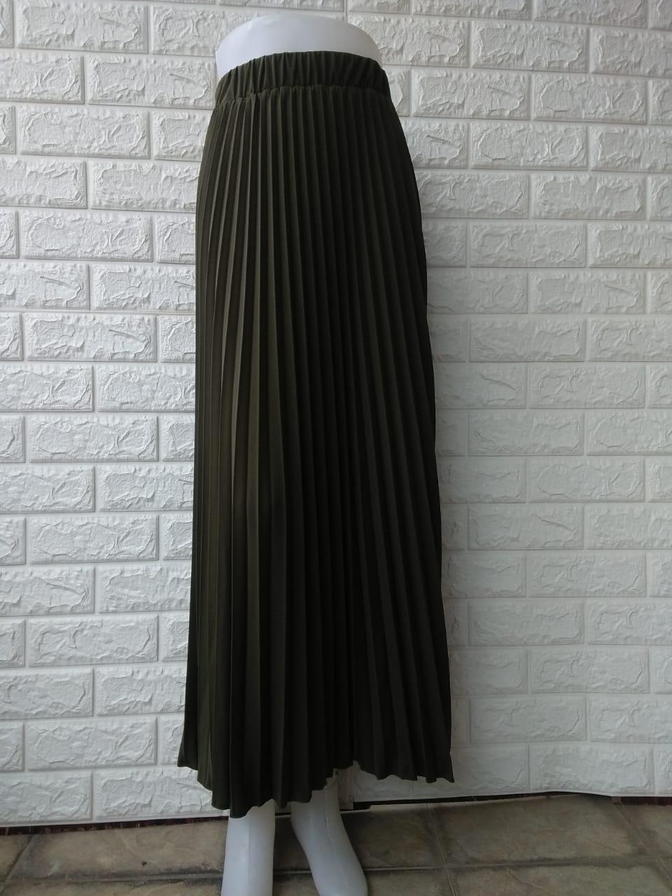 Femme Ols Rok Plisket Tiara Fashion Wanita Rok Panjang Wanita Rok Muslimah